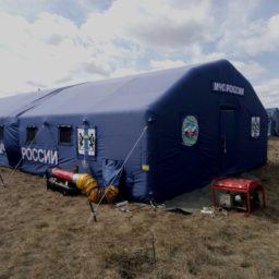Надувные Пневмокаркасные Палатки с тентом из ткани Оксфорд для проживания и оперативного размещения В НАЛИЧИИ И ПОД ЗАКАЗ