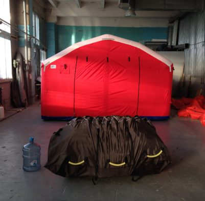 12м х 4,6м х 2.7м Надувная Пневмокаркасная Палатка Модуль Универсального Назначения