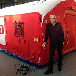 10м х 4,6м х 2.7м Надувная Пневмокаркасная Палатка Модуль Универсального Назначения