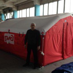 5,1м х 4,56м х 2,5м Надувная Пневмокаркасная Палатка Ангар Модуль Универсального Назначения