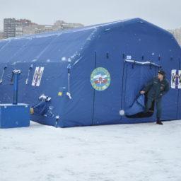 9,7м х 6м х 3,35м Надувная Пневмокаркасная Палатка Ангар Модуль Универсального Назначения