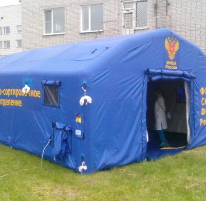 ВЫПОЛНЕННЫЕ ЗАКАЗЫ Федеральное Медико-Биологическое Агентство (Новосибирская область).6 м.x 5 м. x 3 м. С тентом из ткани Оксфорд.Дверь-штора.