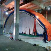 20м х 12м х 6м Надувная Пневмокаркасная Палатка Ангар Модуль Универсального Назначения