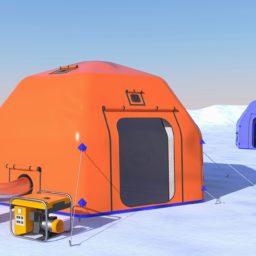 Надувные Пневмокаркасные Палатки - Юрта от 13 кв.м.