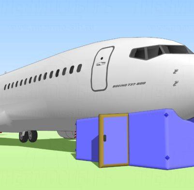 Boing 737 Ремонт шасси + самолёт 01