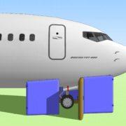 Boing 737 Ремонт шасси + самолёт 02