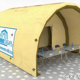 Палатка 6х4,92х3,26 бочка виз 01