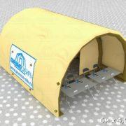 Палатка 6х4,92х3,26 бочка виз 04