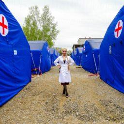 Надувные Пневмокаркасные Палатки Для Здравоохранения