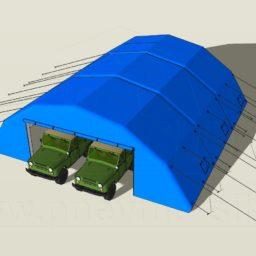 Надувные Пневмокаркасные Ангары для организации складов и парковки легкового автотранспорта от 141,12 м.кв.
